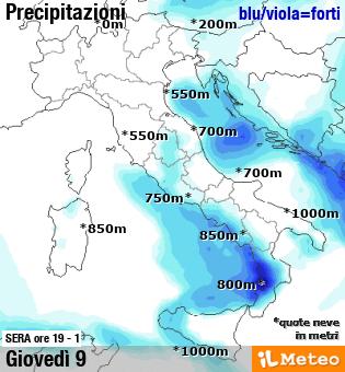 Precipitazioni 1 maggio